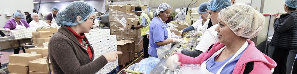 Several Fresno Unified classified workers at the Nutrition Center